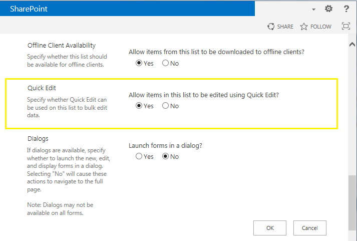 How to Solve Quick Edit Disabled in SharePoint 2013 Issue3