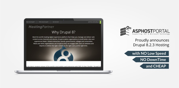 ASPHostPortal com Announces Drupal 8 2 3 Hosting Solution